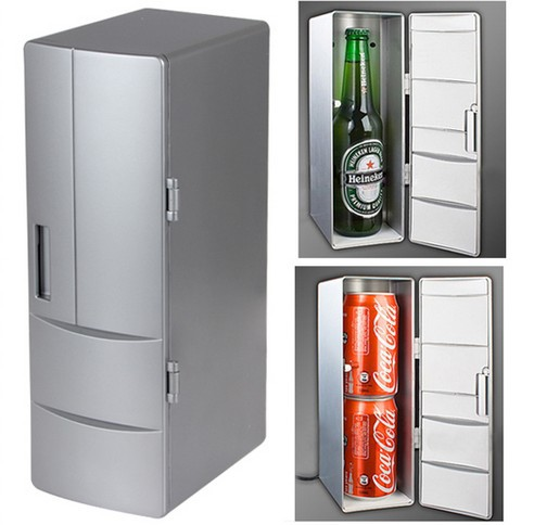 Portable 2.0 USB Mini Fridge Refrigerator Cooler Box And Heating Drink With Control Button For Home/Car/Computer(China (Mainland))