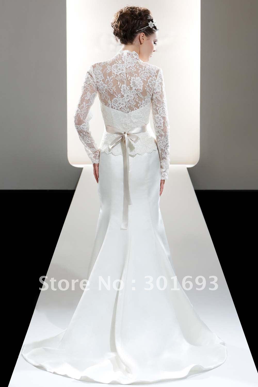 Mermaid Wedding Dresses Long Sleeves Long Sleeve Lace Mermaid