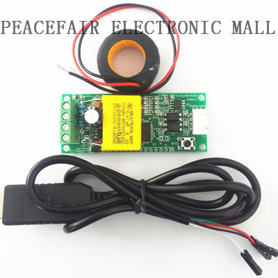 PEACEFAIR AC 100A Electric monitoring and communication module, power energy meter, wi