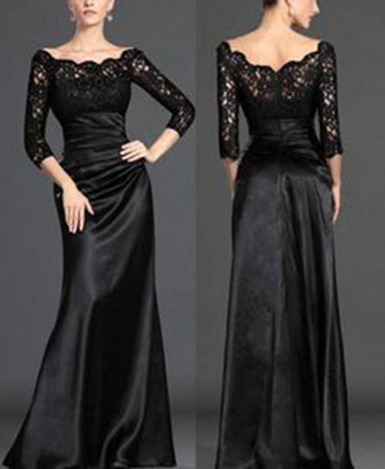 Cheap Modest Prom Dresses With Sleeves Formal Dresses
