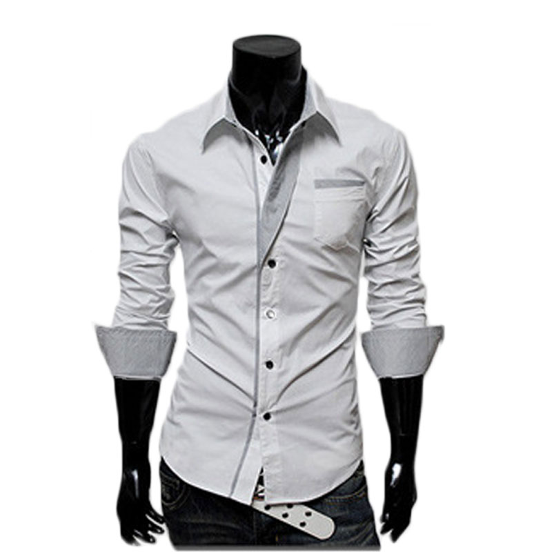 Mens Casual White Button Down Shirt | Artee Shirt