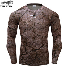 Buy Fitness T shirt Men Compression shirts long sleeve Tight tee shirts Quick Dry Workout Clothes Men's Fashion Base Shirt dress for $6.26 in AliExpress store