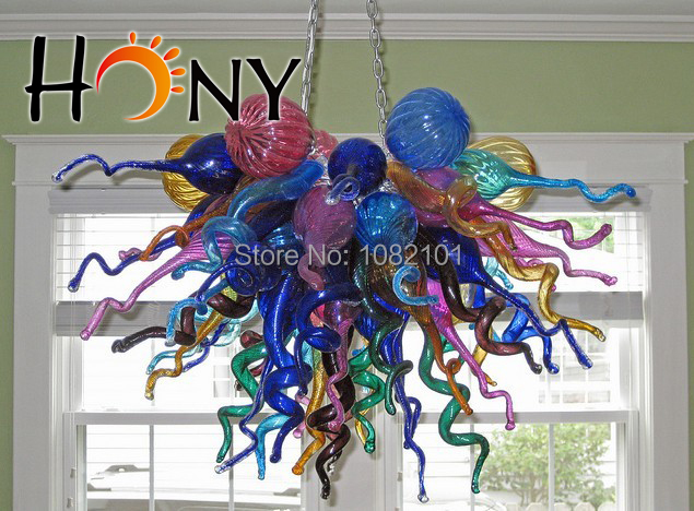 Free Shipping Cheap Modern Chinese Stained Glass Chandelier On Sale(China (Mainland))