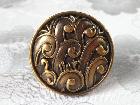 Antique Brass Dresser Knob Drawer Knobs Pulls Handle / Unique Kitchen Cabinet Handles Knob Pull Decorative Vintage Furniture <br><br>Aliexpress