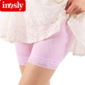 Fashion Lace Safety Short Pants Women Anti Emptied Underwear Middle Waist Seamless Shorts Pants Boxer Shorty