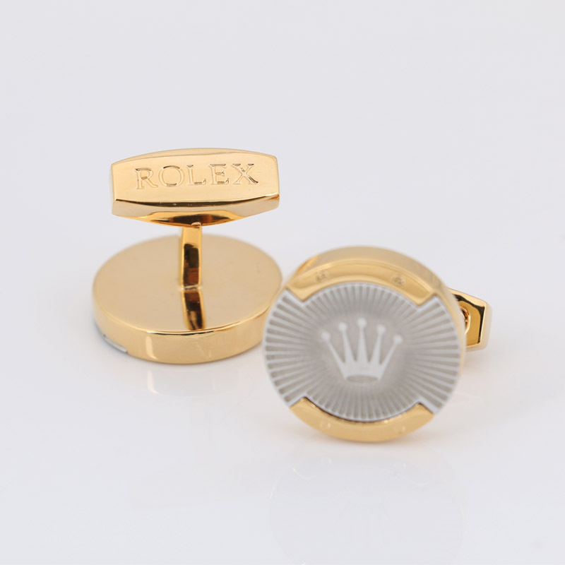 Promotion! Cufflinks retail Men's 18k gold plating copper brand design gift 4colors option silver cuff links free shipping(China (Mainland))