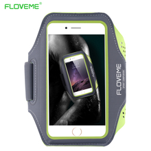 FLOVEME Universal 5.5'' Screen Phone Sport GYM Running Bag Case for iPhone 6 PLUS Waterproof Arm Band Mobile Phone Belt Cover(China (Mainland))