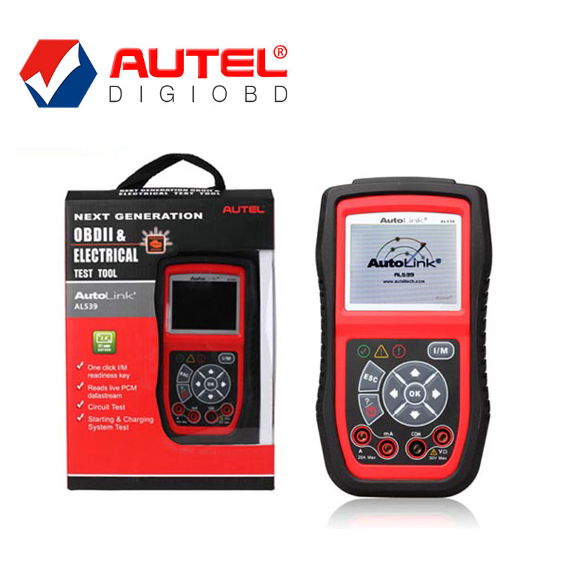 Autel AL539 OBDII and Electrical Test Tool with AVO Meter NEXT GENERATION OBDII&CAN SCAN TOOL free Internet Update(China (Mainland))