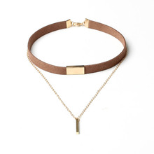 Buy collares mujer collier gold chain bar chokers 2016 necklace leather velvet choker femme jewelry gargantilla collana women for $1.00 in AliExpress store
