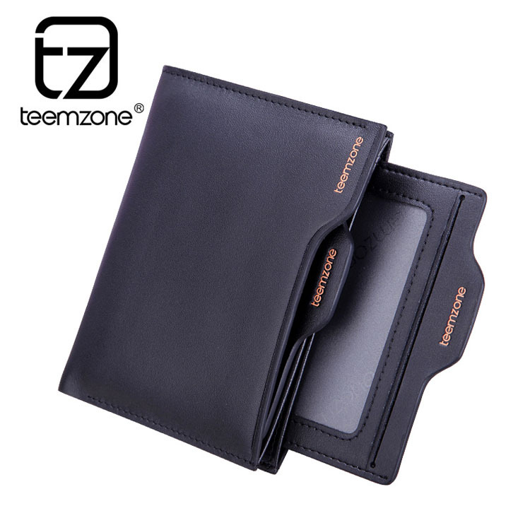 Real Leather Men's Wallet Bifold Money Clip Card Receipt Holder ID Window Driving License Pocket purse(China (Mainland))