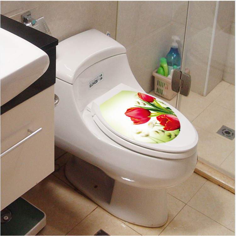 tulip flower home decoration wall art waterproof toilet