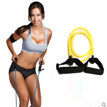 Natural Tension Health Elastic Exercise Sport Body  Stretching Belt Pull Strap with handle Sport Resistance Bands
