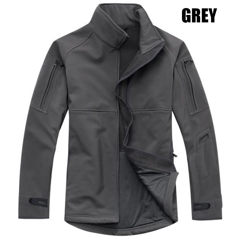 Men Military Tactical Jacket Sports Commander Soft Shell Waterproof Jackets Army Officer Outdoor Hiking Travel Thermal Coats(China (Mainland))