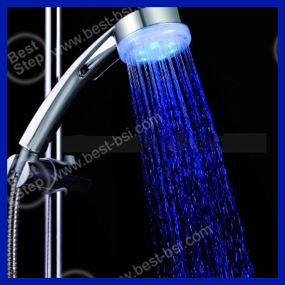 Factory Supply Directly: Single Color, ABS Shell Metal color+No battery, self-powered LED Hand Shower Head Lightings(China (Mainland))