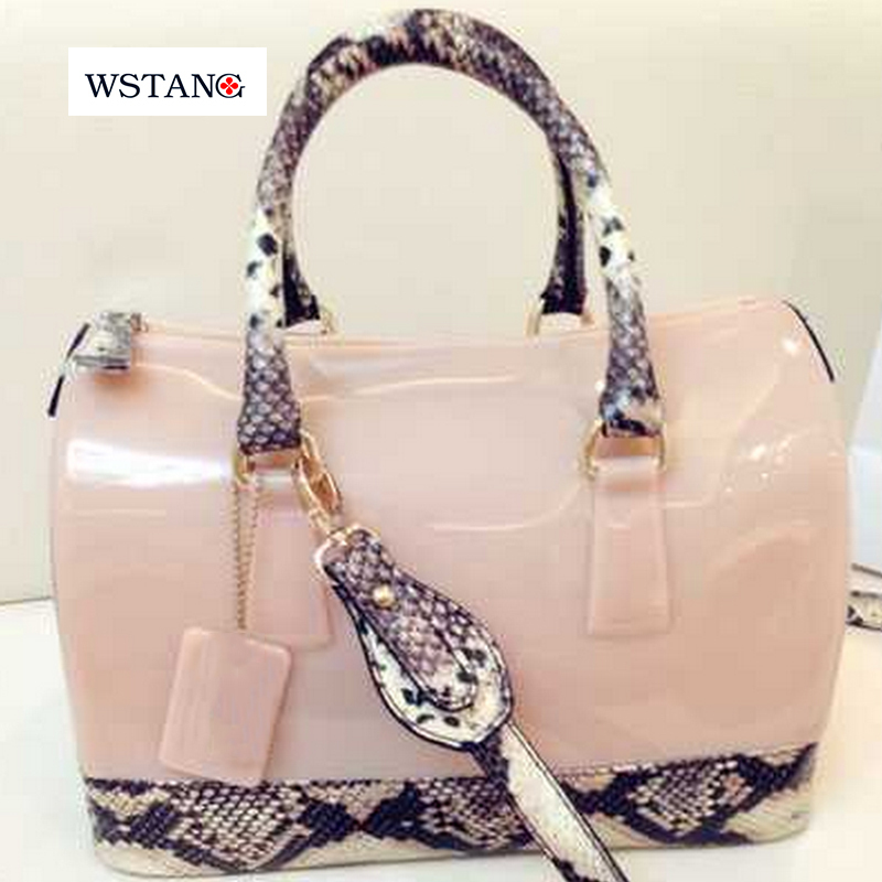 W S T The new European fruit bags pillow bag jelly bag serpentine jelly candy color bag handbag(China (Mainland))