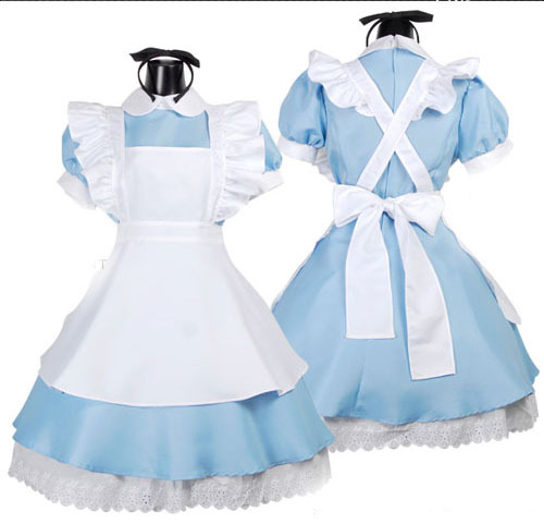 Женское платье Lolita Dresses Maid Cosplay Costume hot sale kids alice in wonderland costume lolita dresses children maid cosplay dress fantasia costumes for girl free headwear