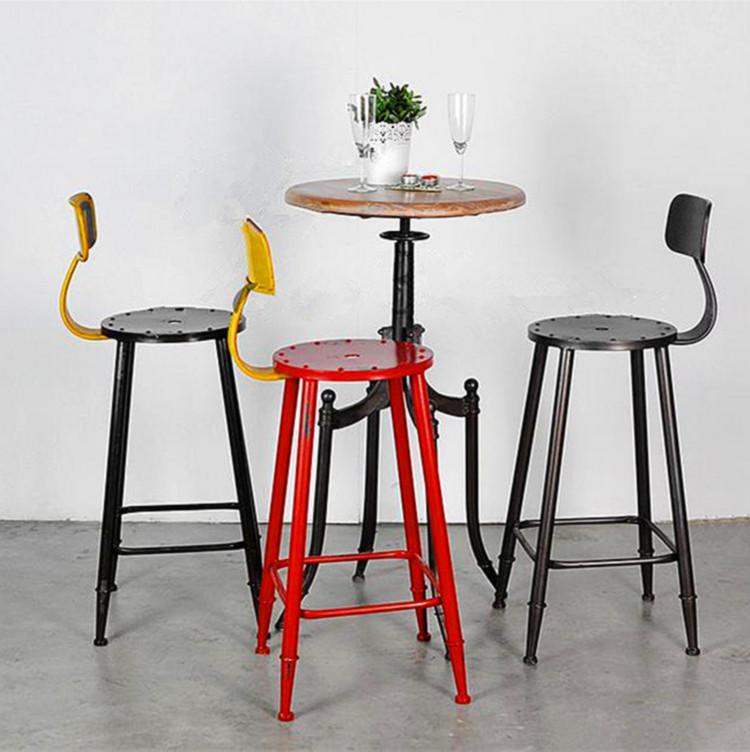 Купить american industrial style retro bar stools iron stool.