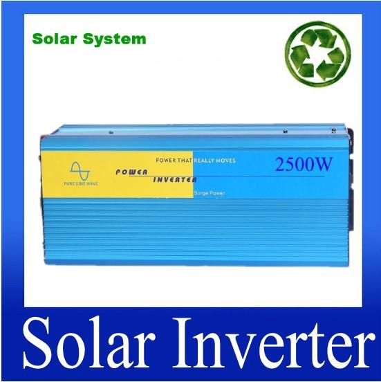 2.5KW 2500W frequency inverter 2500W pure sine wave power inverter 2500W frequency converter single phase peak 5000W(China (Mainland))