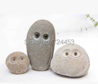 Home And Garden Decoration Natural Stone Pure Hand Work Stone Owl Pure Hand Arts And Crafts