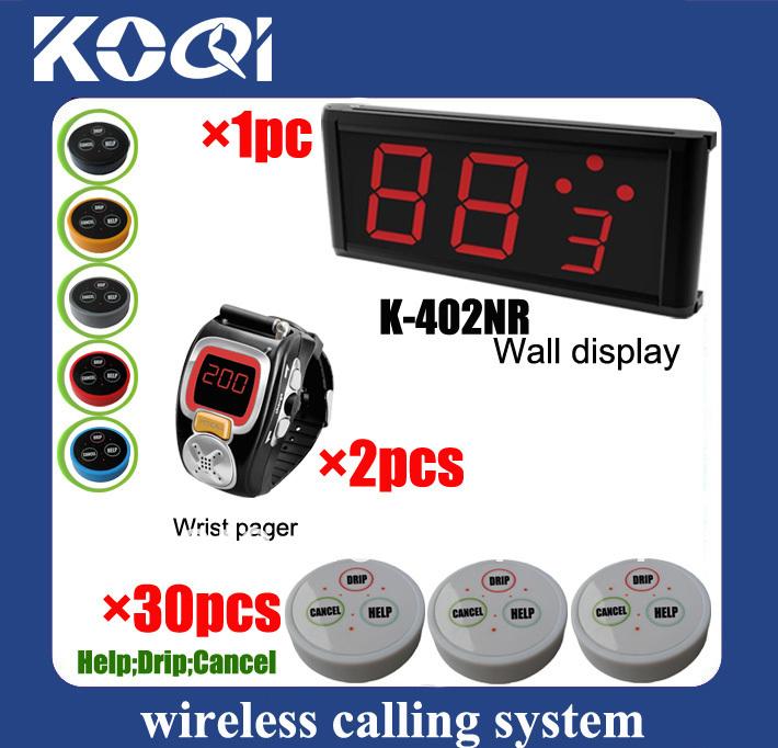 LED Display Wireless Nurse Call Medical Emergency Service Call System w nurse call button help drip K-402NR+200C+D3 DHL free(China (Mainland))