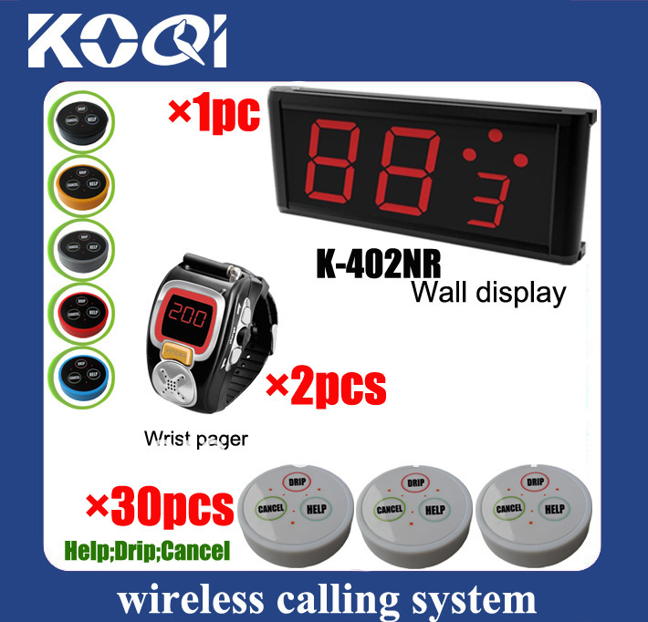 LED Display Wireless Nurse Call Medical Emergency Service Call System w nurse call button help drip K-402NR+200C+D3 DHL free(China (Mainland))