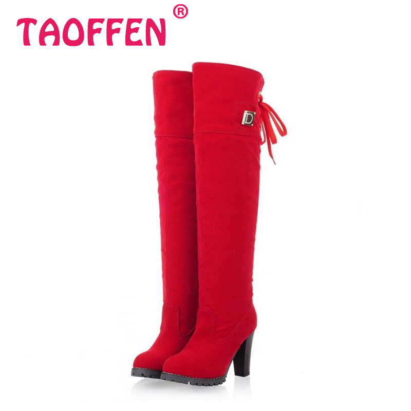 Free shipping knee boots women fashion long boot winter footwear high heel shoes sexy snow warm P7909 EUR size 34-39<br><br>Aliexpress