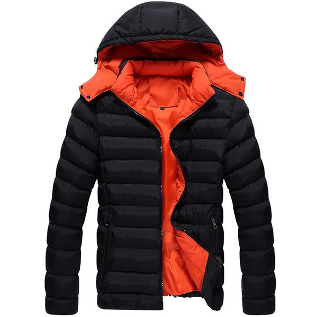 Мужчины зимняя куртка новинка куртка вниз полиэстер пальто мужчины парка верхняя ...
