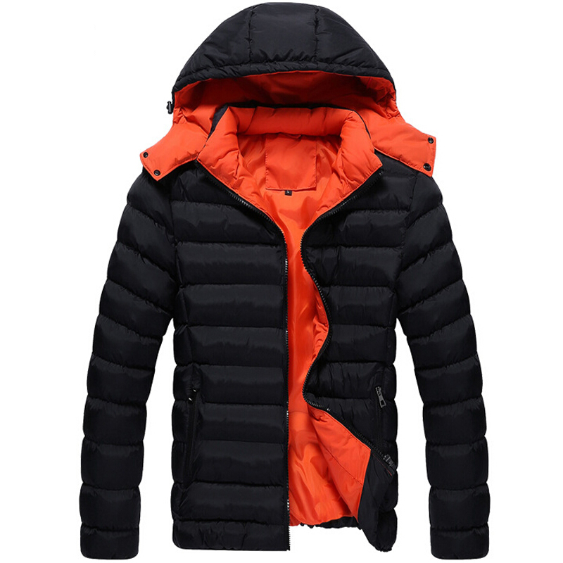 Men Winter Jacket New Fashion Jacket Down polyester Coat Men Parka Outdoor Wear High Quality Plus Size 3XL Thick Warm Coat()