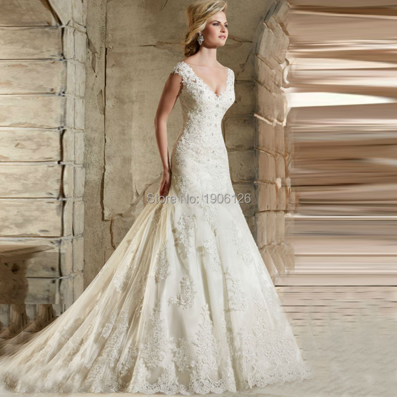 civil elegant wedding dresses turkey lace bridal gowns long tail