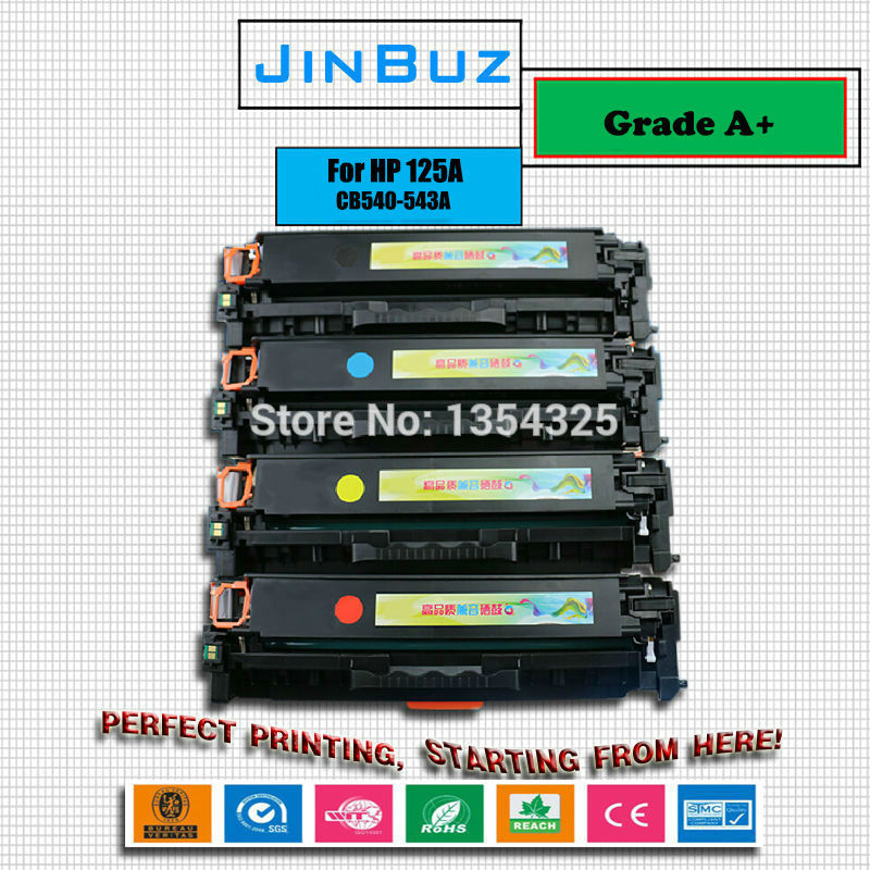 Compatible For HP 125A CB540A CB541A CB542A Toner Cartridge Color for HP CP1215 CP1515n CP1518ni CM1312 CM1312nfi toner Printer<br><br>Aliexpress