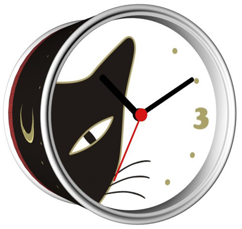 Free Shipping 2014 Moon Cat Wall Clocks With Desk Clock ...