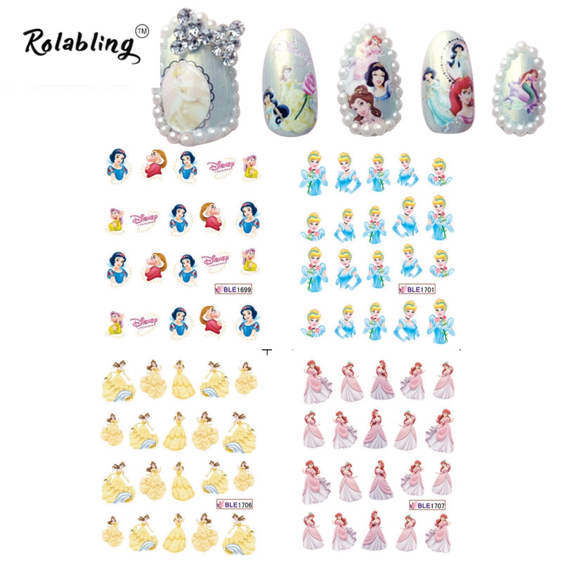 2017 New Arrival All Kinds of images Cartoon Character Series Nail Sticker Nail Art Decorations Fingernail Stickers(China (Mainland))