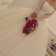 Buy Vestido De Noiva Renda long sleeves Princess Wedding Dress 2017 Ball Gown White Wedding Dress Robe De Mariage 2017 Casamento for $215.26 in AliExpress store