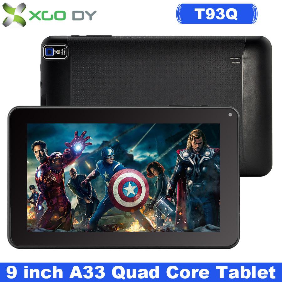 Tablet PC XGODY 9 Inch Quad Core Android 4.4 Kitkat Allwinner A33 8GB ROM Dual Cam WIFI Bluetooth OTG T93Q USA Stock(China (Mainland))