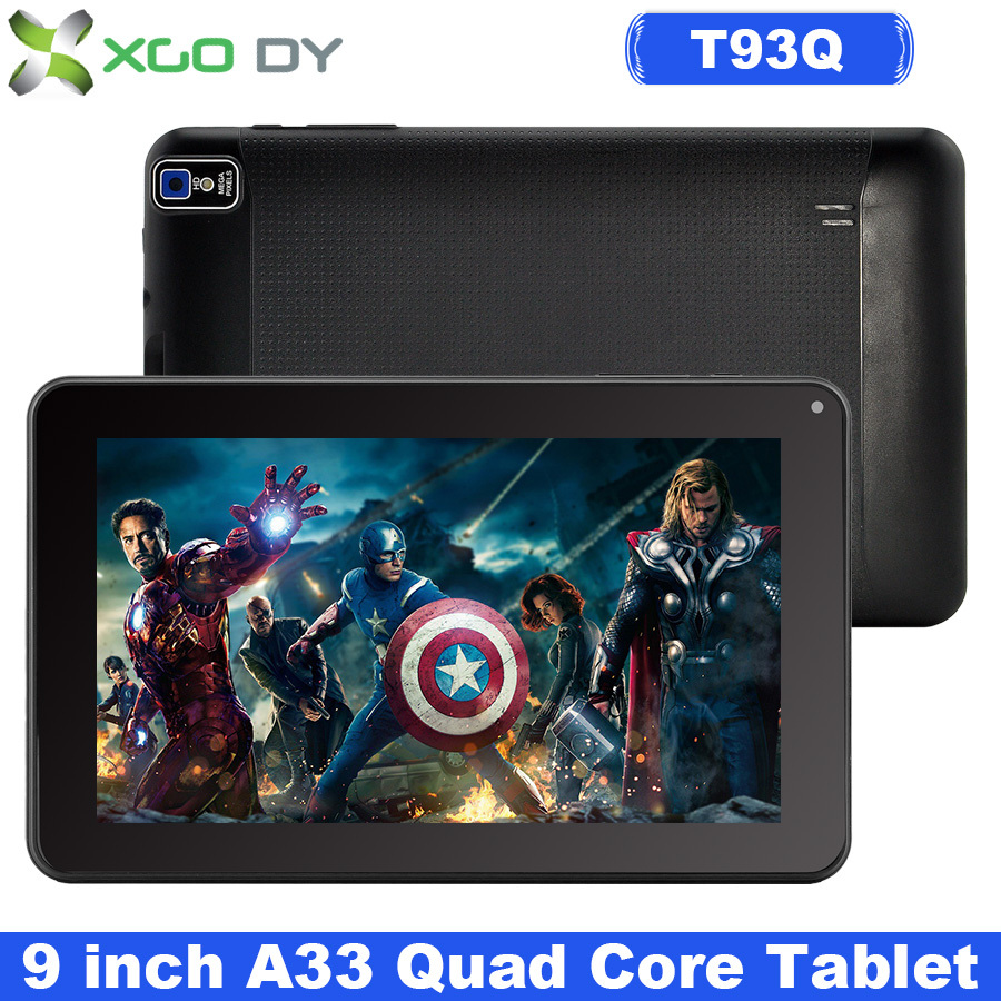 Tablet PC XGODY 9 Inch  Quad Core Android 4.4 Kitkat Allwinner A33  8GB ROM Dual Cam WIFI Bluetooth  OTG T93Q USA Stock(China (Mainland))