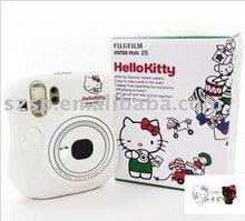 Fuji film Instax White Mini 25 Cheki Color Photo Instant Camera