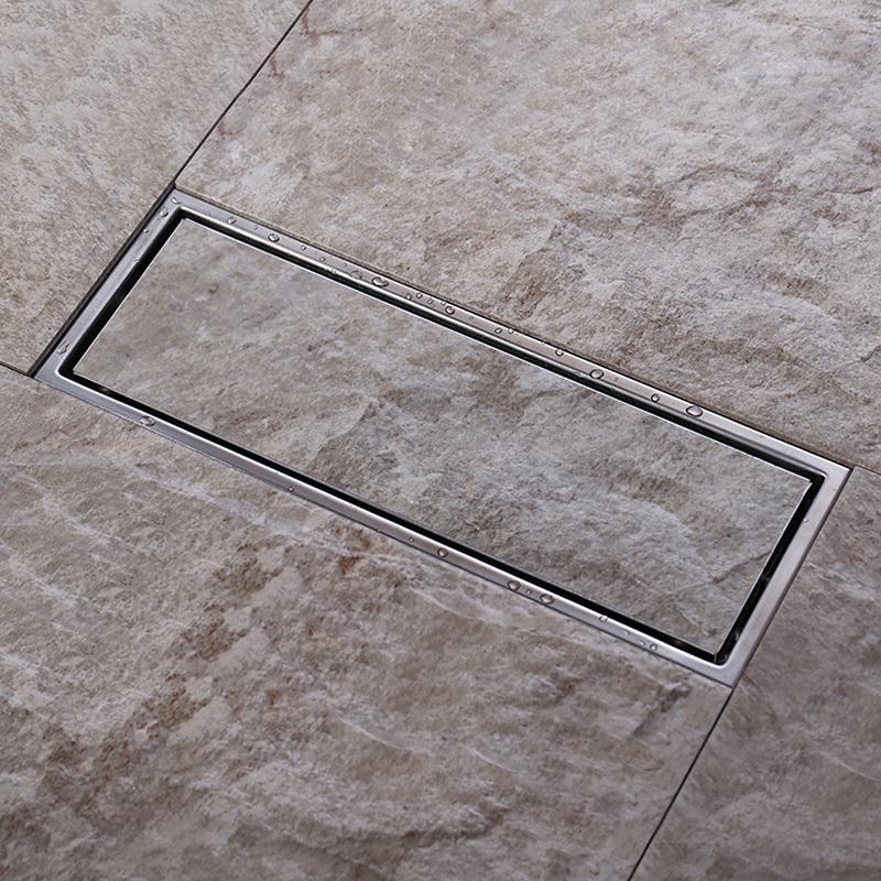 Гаджет  Tile Insert Rectangular Floor Waste Grates Bathroom Shower Drain 300x 110mm ,Invisible 304 grade stainless steel  floor drain None Строительство и Недвижимость