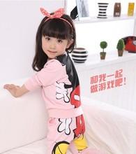 Kids girls clothing sets children s suit shirt pants 2pcs autumn models girls suit new sports