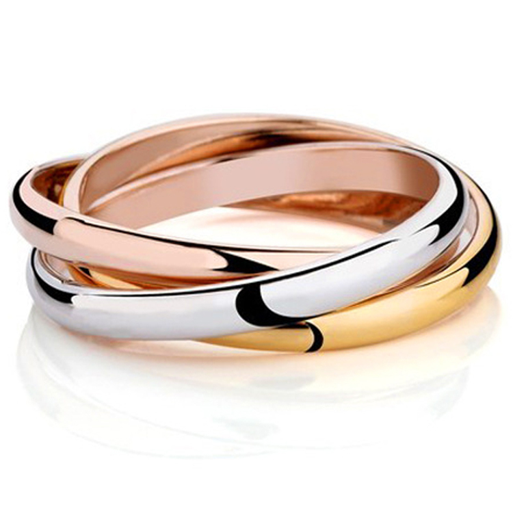 18K Gold Plated Brand Rings For Women Elegant Party Wedding Rings Rose