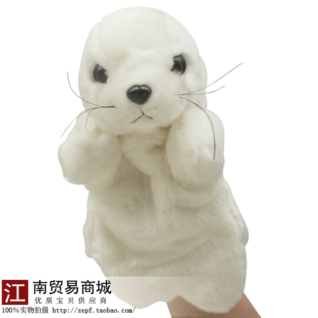 Puppet toy pluch toys infant placarders 0-1 year old dolls Mouse gloves  Free Shipping