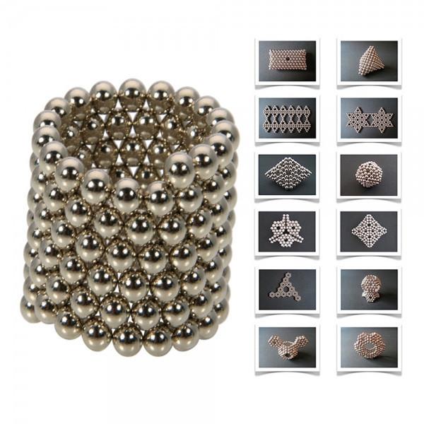 neocube / 216 pcs 5mm Magnetic balls buckyballs cybercube magcube magic cube at metal tin box nickel color P2(China (Mainland))