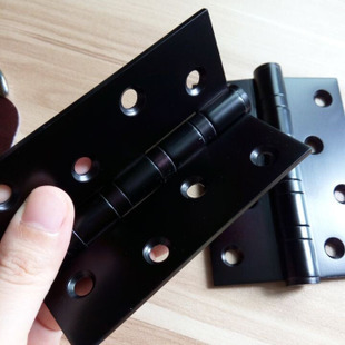 Free Shipping, 4 PCS Black Stainless Steel Hinges for timber door, 4 inches black door hinge, Easy Installation,Low noise Hinges(China (Mainland))