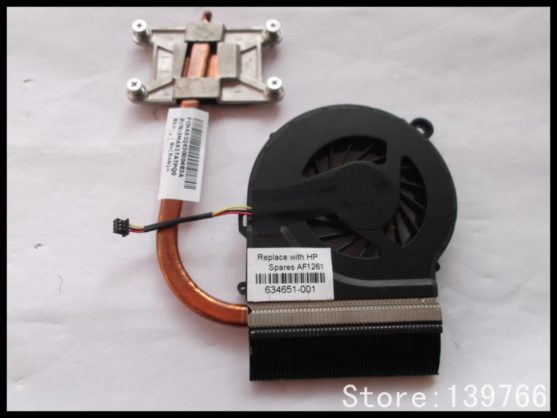 new 634651-001 638402-001 cooler for HP G42 G62 laptop cooling heatsink with fan radiator Original(China (Mainland))