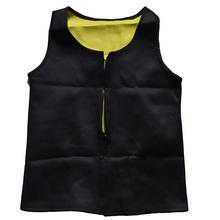 Unisex Shapers Hot Mens Neoprene Sport vest with zipper Sweat  Waist Cincher Shapewear Tummy Control Belly Body Tops(China (Mainland))