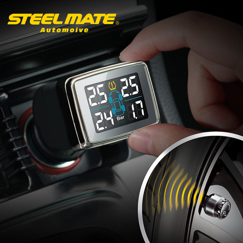 Steelmate TP-79 Tire Pressure Monitoring Detector DIY TPMS CIG Plug Diverter Wireless Transmission Adjust LCD Display steel mate(China (Mainland))