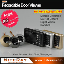 Strong IR infrared video eye door bell with camera support movement detecting