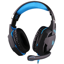 Free Shipping USB Gaming Headset ecouteurs Headphone Noise Cancelling Mic LED Blue Lights for Skype Computer Gamer Headphones