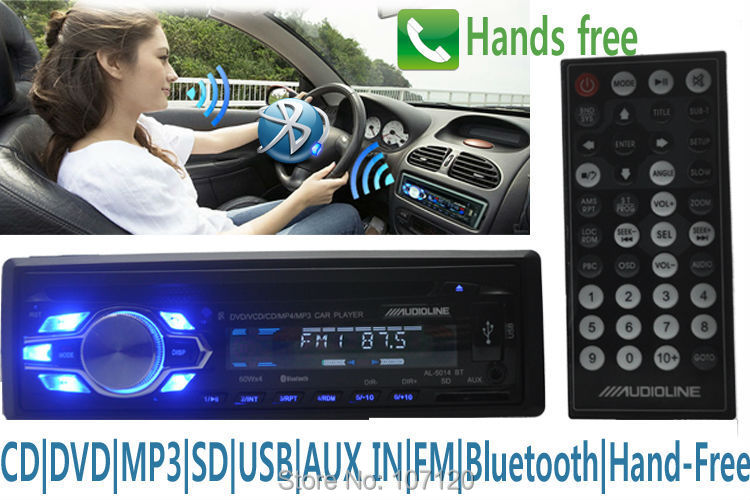2015 new bluetooth car radio CD player 12V car audio player r stereo answer hang up phone 1 Din AUX in usb mp3,Remote Control(China (Mainland))