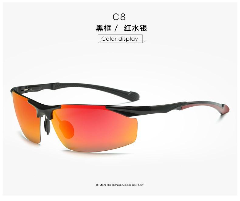 Aluminum Magnesium Men's Sunglasses Polarized Coating Mirror Sun Glasses Male oculos Male Eyewear Accessories For Men 8585