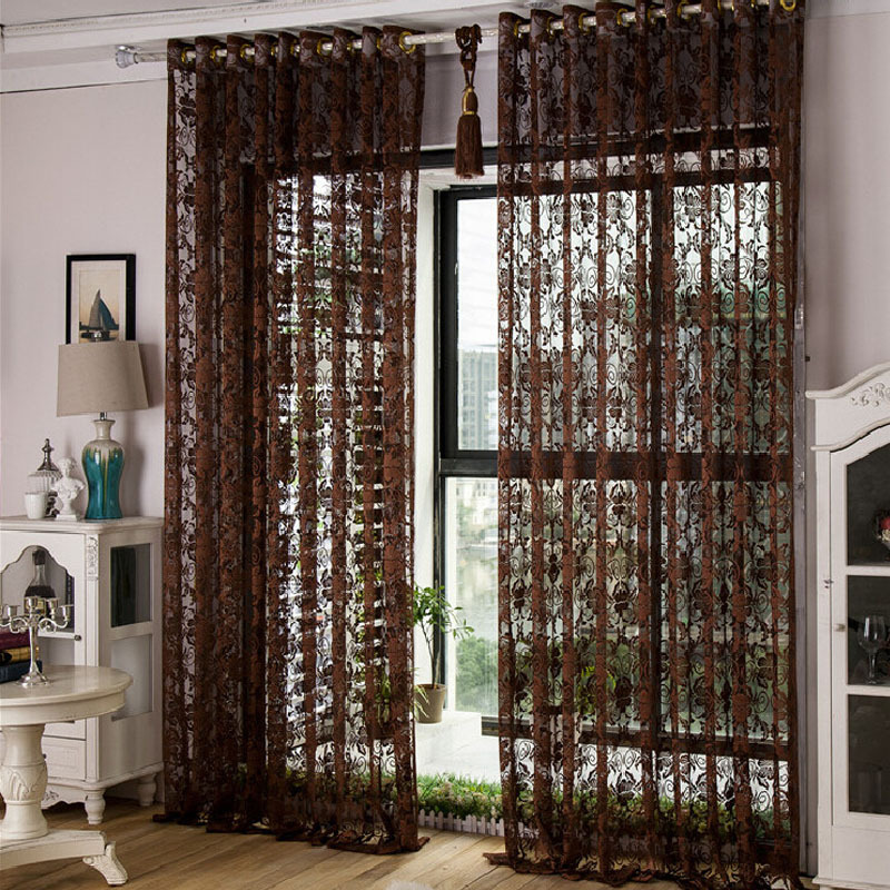 Blackout Kitchen Curtains Polyester Valance Tiers 3: Blackout Curtains Rideaux Curtain For The Kitchen Summer